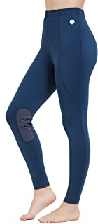 FitsT4 Kids Performance Riding Tights Flex Knee Patch Horse Riding Equestrian Schooling Tights
