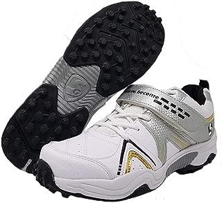 SG Century 3.0 Men's White/Black/Gold PU Cricket Shoes (4)