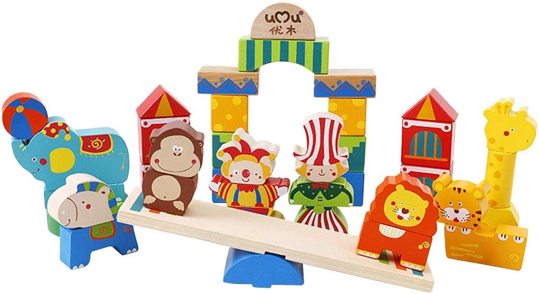 Toyvian Zirkusbausteine pdagogisches Spielzeug kreative hlzerne Stapelblcke Spielzeug für Kinder Kinder