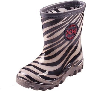 ZJHEHE Kid's Rainboots Fashion Waterproof Mid-Calf Shoes Buskin