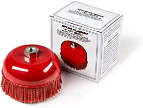 """6"""" Cup Brush, Nylon Filament, 5/8""""-11 Thread, 2500 max.RPM"""