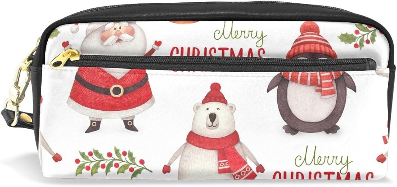 BENNIGIRY Weihnachtsgeschenk Bleistift Fall tragbar tragbar tragbar Pen Tasche Student Schreibwaren Pouch PU Leder Groß Kapazität Reißverschluss Make-up Kosmetiktasche B077TJGCVS   Verschiedene  9f4eeb