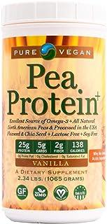 Pure Vegan Pea Protein Vegan Protein Powder, Vanilla, 2.34 Pound