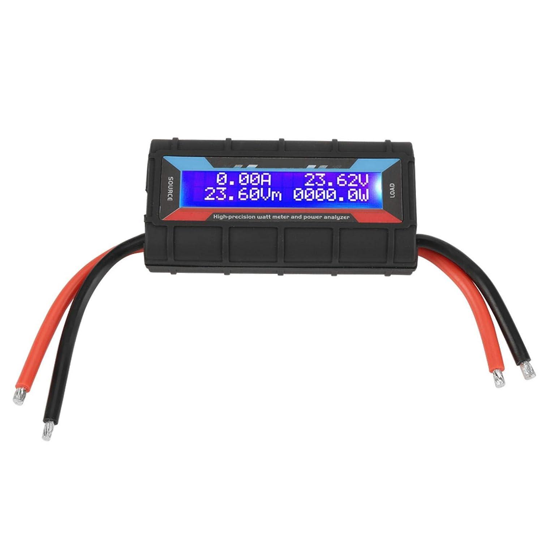 Watt Power Tester, 130A Rc Watt Meter Voltage Amp Meter Watt Meter, Convenient For Rc Model Airplane High Precision 84 X 43 X 26Mm 0.01A(0~60V); 0.1W (0~655W)