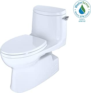Toto MS614114CUFRG#01 Carlyle II 1G Elongated One-Piece Toilet, Right-hand Trip Lever, Cotton White