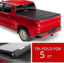 cciyu 5FT Truck Bed Tonneau Cover Fit for Nissan Frontier 2005-2019 Soft Tri-Fold Tonneau Bed Cover Exterior Accessories Replacement