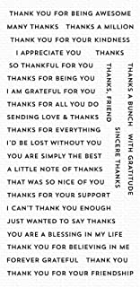 My Favorite Things MFT Clear Stamps THKS, Bitty Thanks & Gratitude