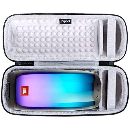 JBL Pulse 4 IPX7 Waterproof Portable Bluetooth Speaker with 360 Color LED and gSport Deluxe Travel Case (Black)