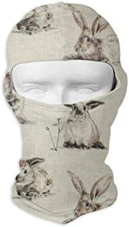 ZENRAEW Custom Rabbit Background Balaclava Full Face Mask Hood Outdoor Sports Hunting Cycling Motorcyle Tactical Ski Face Cover Helmet