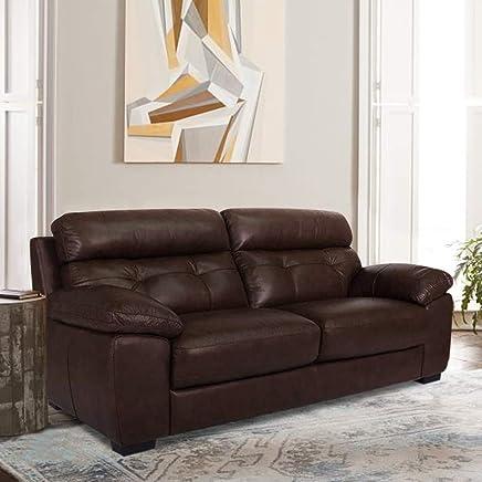 Furny Kane Three Seater  Sofa (Brown)