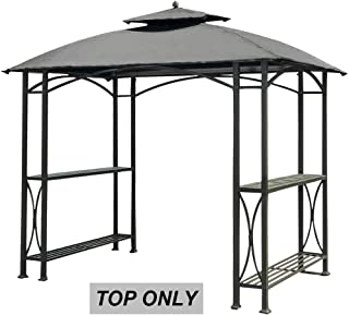 ABCCANOPY Canopy Roof Top Replacement L-GG040PST-A Grill Gazebo Canopy (Grey)