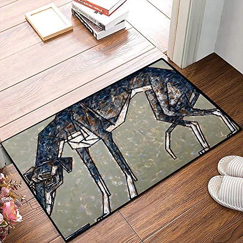 QDYLM Alfombra de baño de Microfibra esponjosa,Galgo Italiano - El Perro más Corto del Grupo de Pintura de Galgos alfombras de Ducha de Suave Absorbente de Agua, 50x80 cm