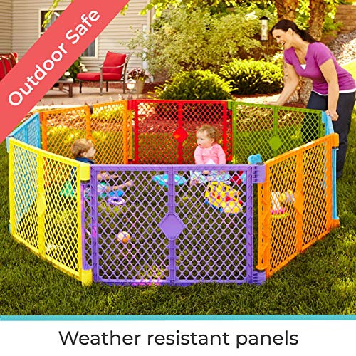 North States Superyard Colorplay 8-Panel Playard with Carrying Strap