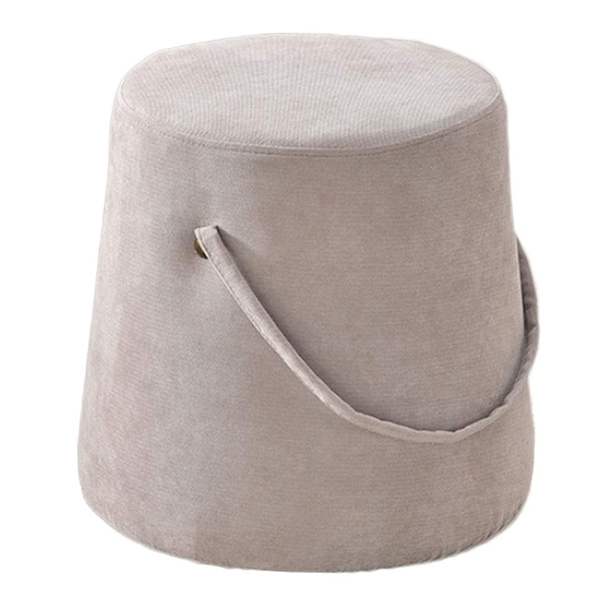 バルーン文忠誠フットスツールプーフフットスツールレストリビングルーム用の小さなオスマンベッドルームソファコーヒーテーブル、30x30x35cm、グレー、67(色:グレー-1)