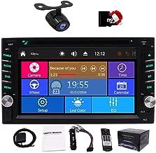Car Autoradio 2din GPS SAT Navigation Multi-Touchscreen Car DVD Player in-Dash Audio Car GPS Stero AM/FM Radio Work with Bluetooth 8GB Map Card Remote Control Backup Camera Head Unit