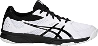 ASICS Men's Upcourt 3 Volleyball Shoes, White/Black, Size 12