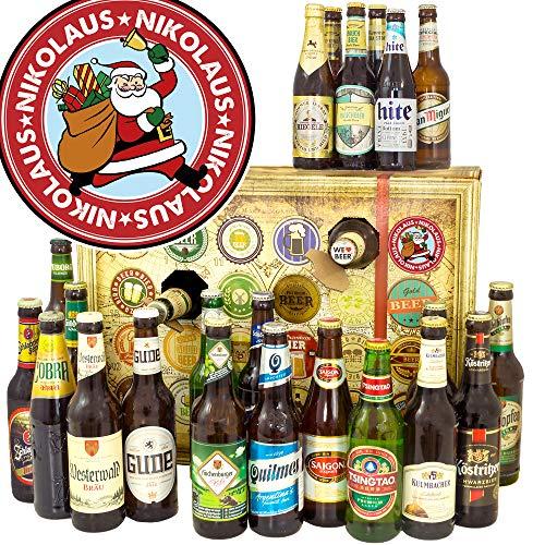 Nikolaus Bier Adventskalender 2019 / Adventskalender Bier / 24 x Biere DE und Welt