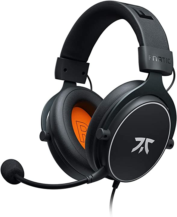 Cuffie da gioco fnatic react per ps4/pc con driver da 53 mm, audio stereo e controlli in line HS0003-001