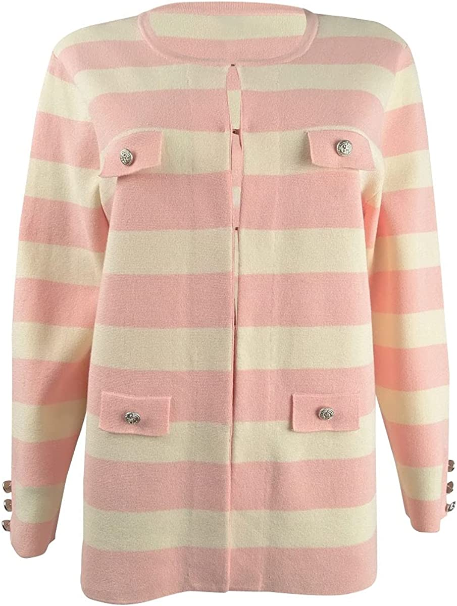 Anne Super popular specialty store Klein Women's Cardigan Free shipping anywhere in the nation Striped