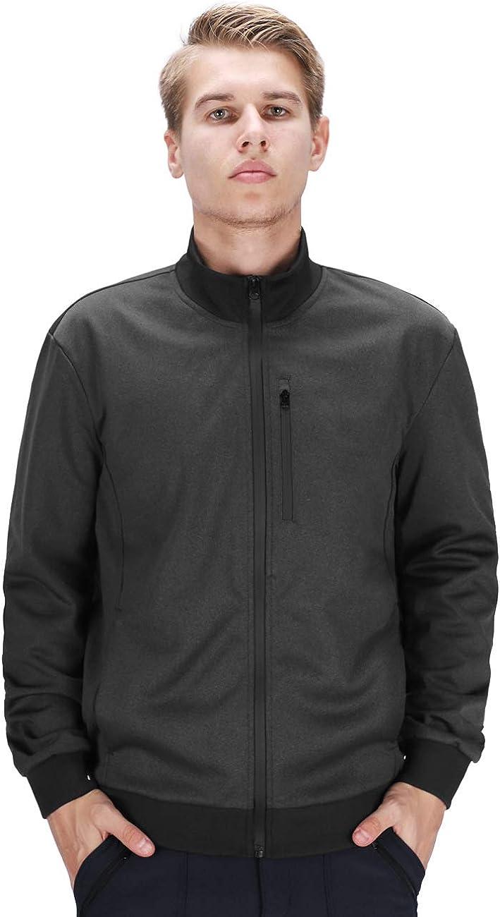 DISHANG Men's Full famous Zip Softshell Jacket Windbreaker Lightweight 5 ☆ popular