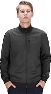 Men's Full Zip Windbreaker Water-Resistant Softshell Bomber Jacket Lightweight Casual Slim Fit Outdoor Sportswear