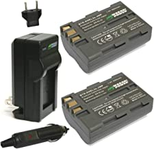 Wasabi Power Battery (2-Pack) and Charger for Nikon EN-EL3e and Nikon D50, D70, D70s, D80, D90, D100, D200, D300, D300S, D700
