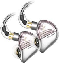 SIMGOT MT3 Hi-Res in-Ear Monitor Headphones, IEM Earphones with Detachable Cable, Noise-Isolating Musician Headset with Dynamic Driver, Design HiFi Earbuds for Smartphones and Audio Players (Pink)