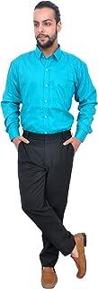 The Mods Men's Formal Safire Blue Color Shirt