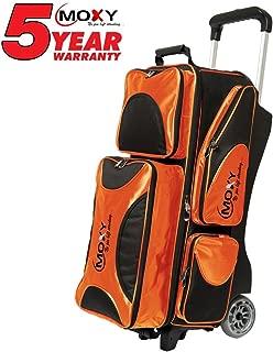 Moxy Deluxe Triple Roller Bowling Bag- Orange/Black