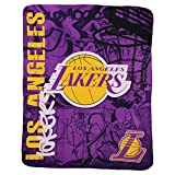 The Northwest Company Officially Licensed NBA Printed Fleece Throw Blanket, Multi Color, 50' x 60' (Los Angeles Lakers)