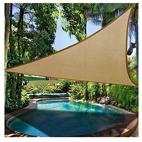 Prom-near Premium Sonnensegel Dreieck Wasserfest Sonnensegel Garten Terrasse Pool Schatten Segel (B: Sand Yellow 3.6 * 3.6 Meters)
