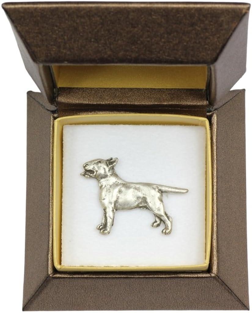 Bull Terrier (Body), Dog pin, Badge, Brooch, in Box, Casket, Limited Edition, ArtDog
