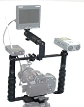 ALZO Transformer DSLR Rig Full Gear Kit, Camera Cage Bracket Including Handle, Hand Grips, Ball Mount, Shoe Mount, Quick Release, Height Extenders