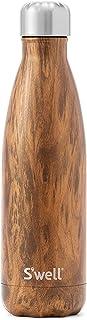comprar comparacion S'well - Botella de agua aislada de acero inoxidable, Marrón (Teakwood), 500 ml (17 oz)
