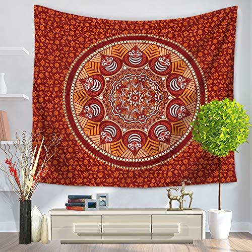 WERT Tapiz de Mandala Hippie India Boho Pared Decorativo Colgante de Pared Estera de Yoga Bohemia Manta Alfombra Colcha A8 200x180cm