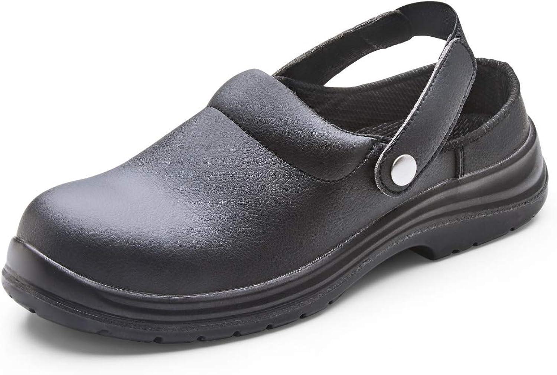 Safety Footwear Black Micro Fibre Slipper shoes Sizes 5-12 HGCF843BS