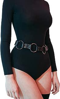 Women's Punk Leather Metal Chain Tassel Belt Adjustable Garter Harness