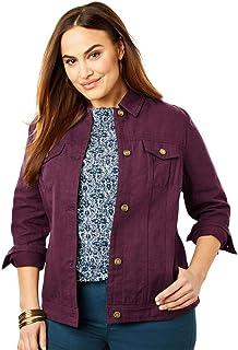 c97850a686f3a Jessica London Women s Plus Size Classic Cotton Denim Jacket