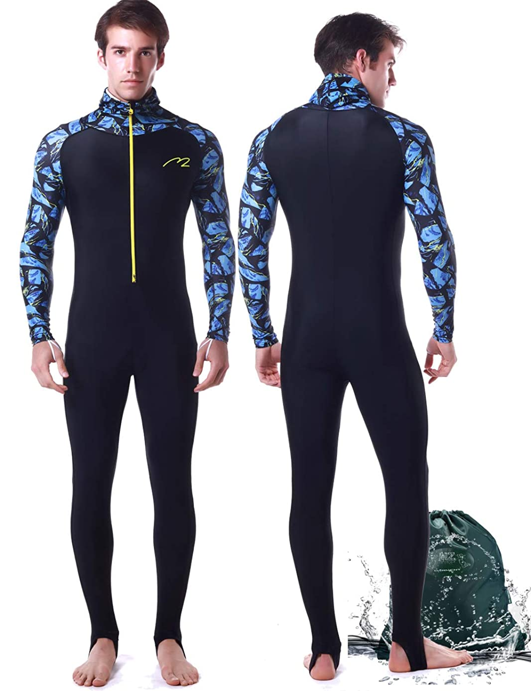 Rash Guard for Men Women Lycra Full Body Diving Suit Full Wetsuit & Breathable Sports Dive Skins for Running Snorkeling Swimming Kayaking