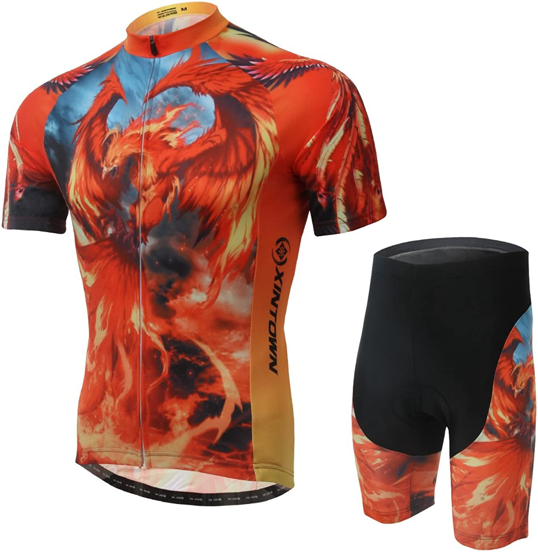 Ophelia Outdoor Phoenix Summer Cheap Cycling Bike Bicycle Jersey + Pants Or Bib Set Men