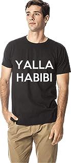 Santhome 180 GSM Mens Yalla Habibi cotton round neck tshirt,
