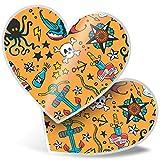 Impresionante pegatinas de corazón de 15 cm – Pegatinas divertidas para portátiles, tabletas, equipaje, libros de chatarras, neveras, regalo genial #2203