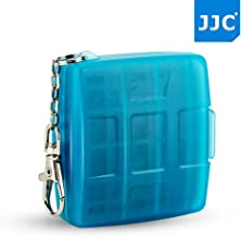 JJC 4+4 Slots Memory Card Game Card Case for 4 X Game Card (Nintendo Switch : Ultra Street FighterII, The Elder Scrolls V: Skyrim, Lego City Undercover, Lego Worlds, 88 Heroes) + 4 X MSD Card, Blue