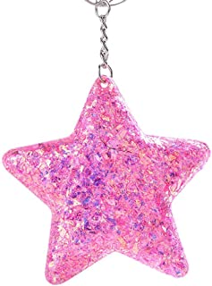 Luxurious Star Pendant Keychain,Colorful Paillette Key Ring Holder Bag Car Decoration Fine Workmanship Souvenir Gift,Colou...