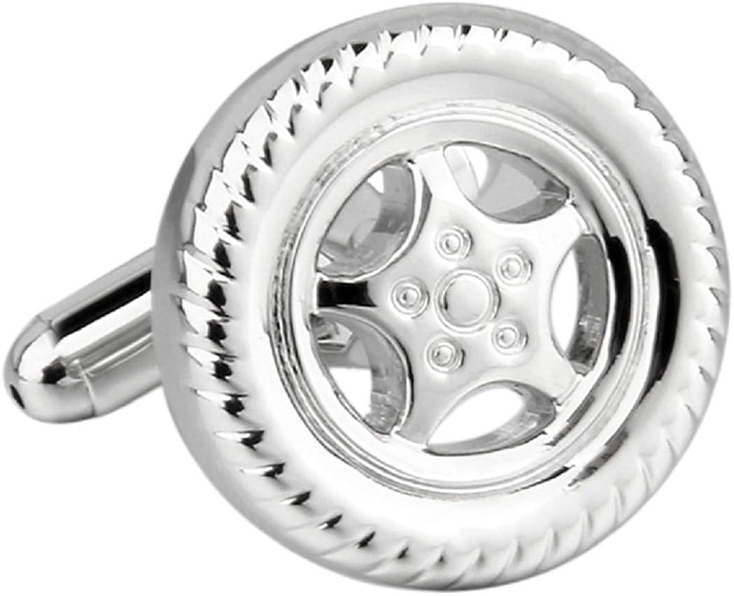 MRCUFF Wheel & Tire Mags Car Rims Pair Cufflinks in a Presentation Gift Box & Polishing Cloth