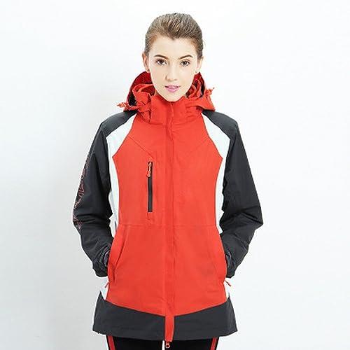 En Plein Air Couple d'hiver Modèles Trois-en-Un Veste Deux Pièces Hommes Et Femmes Velours Chaud Veste de Ski,J Femelle,XL