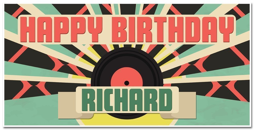 Fixed price for sale Long-awaited Personalized Retro Music Disco 70s Decorat Birthday Banner Party