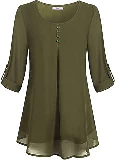 Best green chiffon tunic Reviews