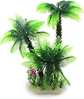 Riverbyland Artificial Aquarium Plant Green Popular Cocount Palm