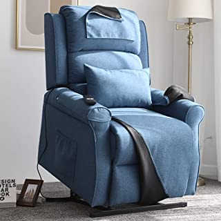 Irene House Power Modern Transitional Lift Chair Recliners with Soft Linen(Brushed )..